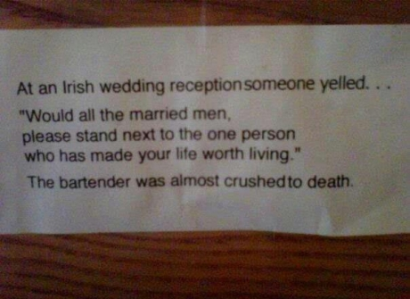 Bartender,Irish,marriage,married,husband,lol,funny,awesome