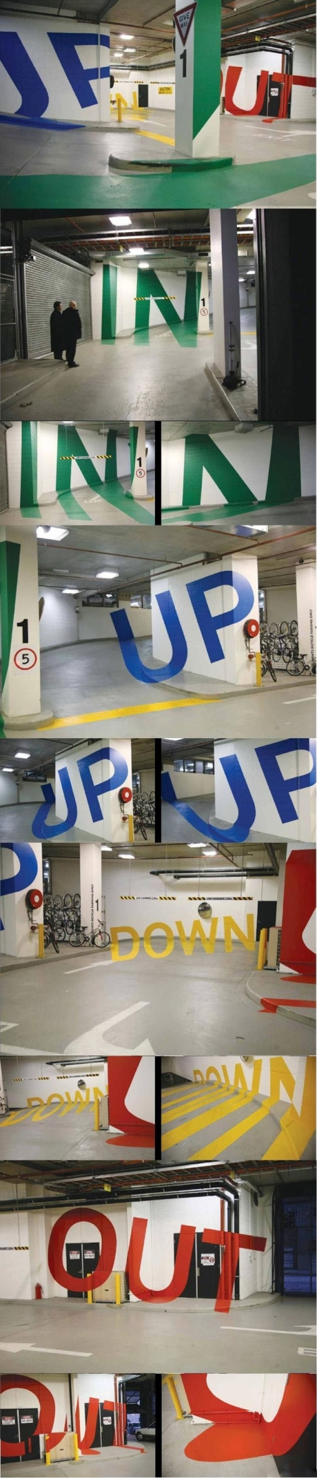 Epic Parking Garage, up, out